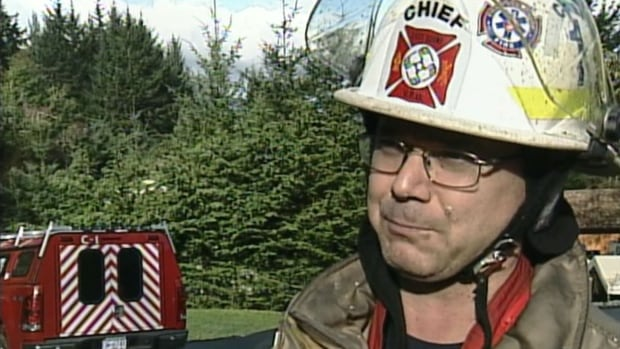 Sooke's fire chief says the fire was burning through three floors and the roof when he arrived.