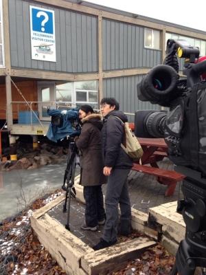 Japanese film crew