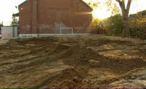 Archeological dig near Weston and Lawrence