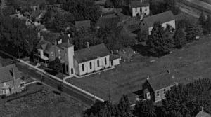 Undated photo of old St. John the Evangelist Roman Catholic Church