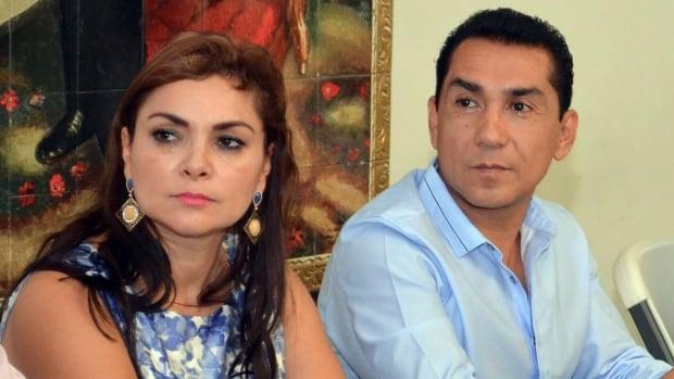 Jose Luis Abarca, right, former mayor of Iguala, and his wife Maria de los Angeles Pineda Villa have been taken into custody by police in Mexico City.