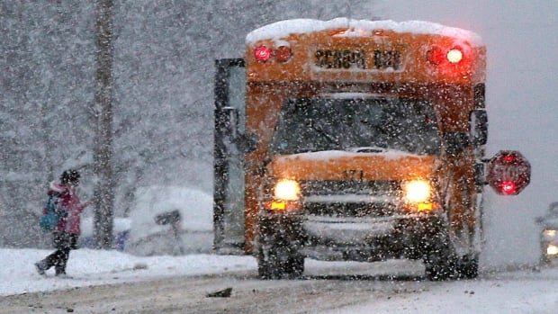 When freezing rain or snow falls in your neighbourhood, check here to see if your school buses are still running.