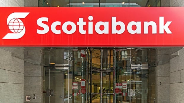 Moody's ratcheted Scotiabank's credit rating down a notch on Monday, citing concerns over the bank's recent push into credit cards and auto loans.