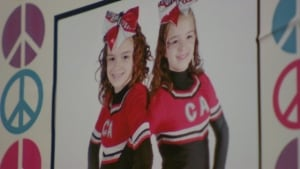 Morgan and Bailey Dunbar as cheerleaders