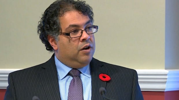 Calgary Mayor Naheed Nenshi takes questions from the media as the city's new four-year budget is unveiled Tuesday.