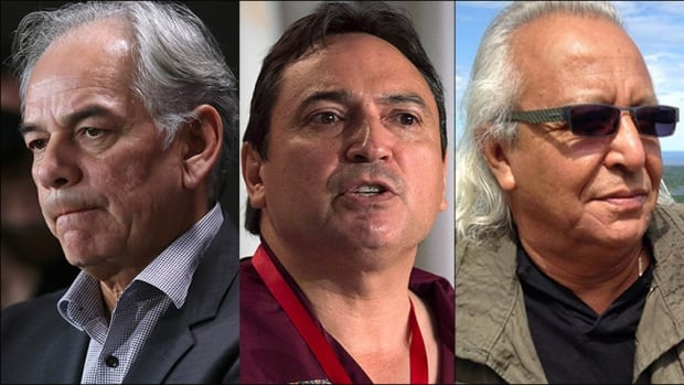 The AFN National Chief candidates are, from left to right, Ghislain Picard, Perry Bellegarde and Leon Jourdaine. Voting takes place in Winnipeg on Wednesday with first ballot results expected at about 1 p.m. CT.