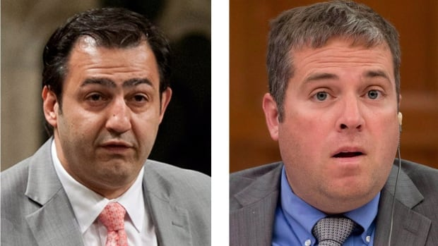Quebec MP Massimo Pacetti and Newfoundland and Labrador MP Scott Andrews were kicked out of the Liberal caucus on Wednesday after harassment allegations surfaced against them. Both deny the allegations.