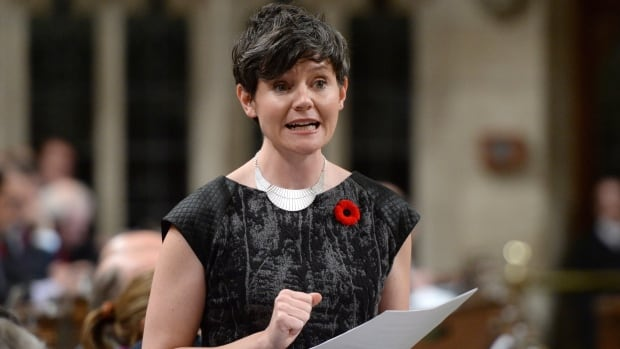 NDP Deputy Leader Megan Leslie grilled the government during Thursday's question period over a CBC News report that found a Crown corporation set up shell companies in Luxembourg.