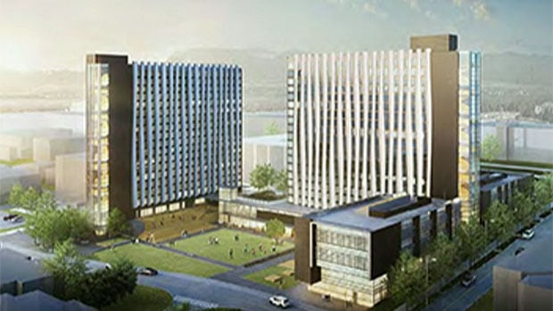 An artist's rendering of Vantage College, which is currently under construction at UBC.