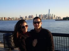 Jordin Tootoo and wife