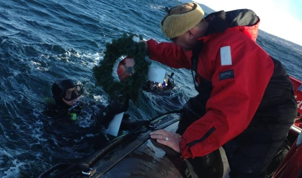 Ocean Quest divers lay wreath at site of shipwreck