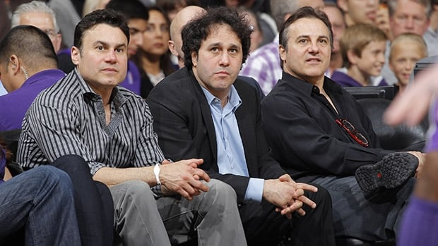 Brothers Phil, left, George, centre, and Gavin Maloof are members of the family that once owned the NBA's Sacraments Kings and is reportedly in line for a piece of an NHL expansion franchise in Las Vegas.