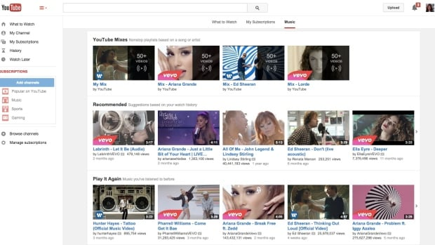 Google has added a new tab devoted exclusively to music on the YouTube website, to make it easier to find specific songs and entire albums.