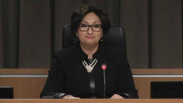 Justice France Charbonneau called for all Quebecers to stamp out corruption in her closing statement.