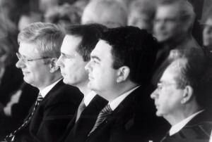 Stephen Harper, Dalton McGuinty and Dean Del Mastro