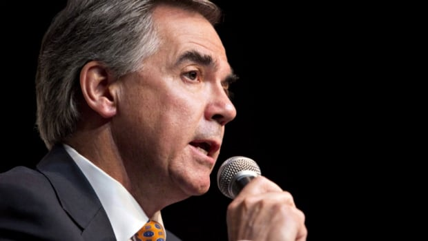 Alberta Premier Jim Prentice spoke Monday to a business audience in Vancouver, B.C. about the crucial role he thinks pipelines will play in Canada's future.