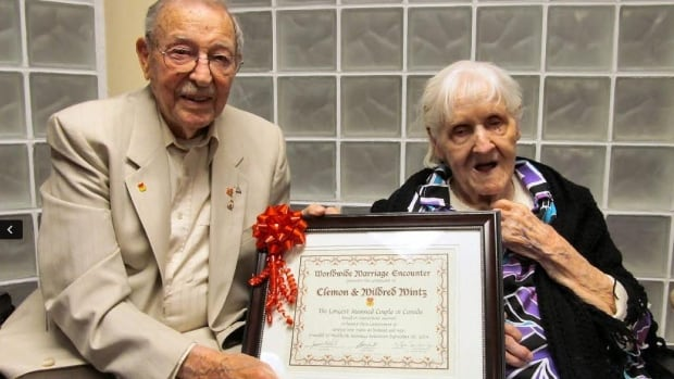 Clem and Millie Mintz have received an award for having the longest marriage in Canada. Today they celebrate their 80th wedding anniversary.