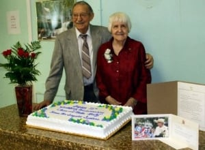 Clem and Millie Mintz celebrate 75 years together in 2009