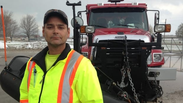 Chad Drummond, who is lead hand and a plow driver for the Lakeshore, Ont., public works department, said plow routes can be as long as 85 kilometres.