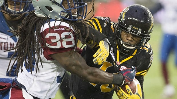 Hamilton special-teams ace Brandon Banks, right, topped the CFL with 1,968 all-purpose yards this season.