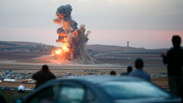 A U.S.-led coalition began striking ISIS in late September in Syria.