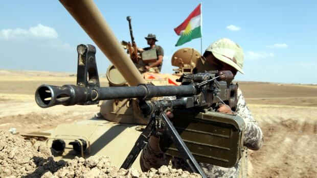 Kurdish peshmerga troops have been engaged in a fierce months-long battle against ISIS fighters for control of the city of Kobani, Syria.