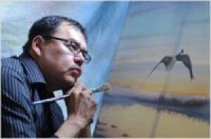 Cree artist Tim Whiskeychan