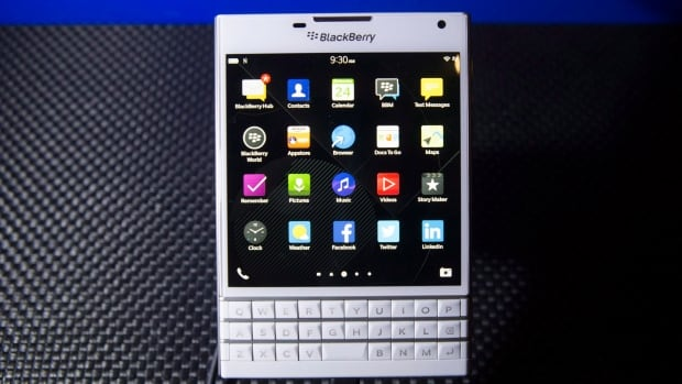 The new BlackBerry Passport, displayed during the launch of the phone in Toronto in September. BlackBerry is offering iPhone users up to $600 to switch to a Passport phone.