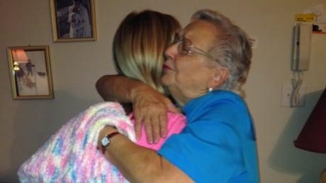 Lois Campbell hugs