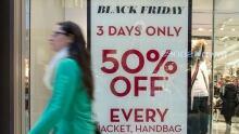 Store advertising Black Friday sales