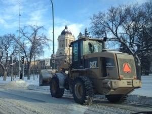 City of Winnipeg snowplow