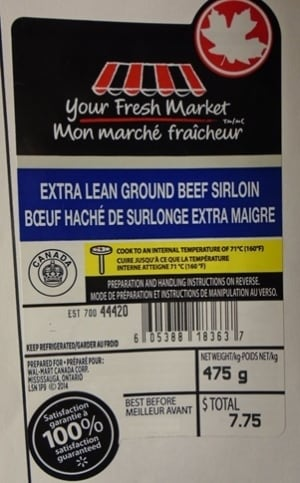 Your Fresh Market ground beef Wal-Mart recall Cargill Canada E. coli