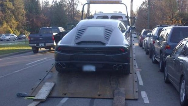 Vancouver police department ticketed and towed $275,000 Lamborghini after driver caught going twice the speed limit