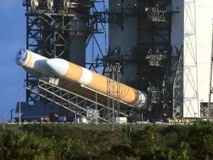 Delta IV heavy rocket lifted