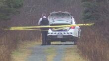 Police secure crime scene in Lawrencetown