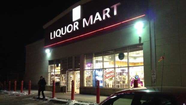 Shoppers at the Liquor Mart on Portage Avenue and Banning Street in Winnipeg on Wednesday evening. Members of the Manitoba Government and General Employees' Union who work at Liquor Marts, in the distribution centre and at head office have voted 97 per cent in favour of possible strike action.