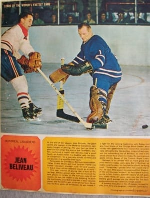 Jean Beliveau and Johnny Bower