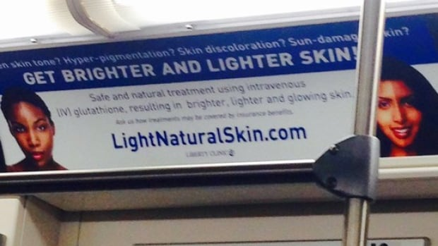Some riders took to social media to denounce the skin-lightening ads, which appeared in subway cars, as racist.