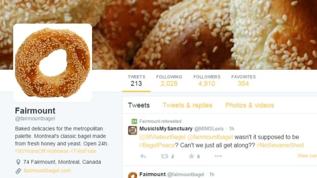 The Fairmount Bagel twitter account has been around for two weeks and has nearly 5,000 followers