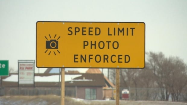 A Saskatoon man who was ticketed in November for driving 106 km/hour along Circle Drive says there are not enough posted signs alerting motorists photo radar is in use.
