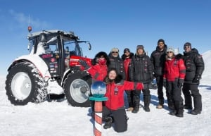 Tractor girl at South Pole