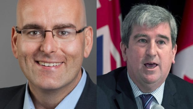 Current Ontario transportation minister Steven Del Duca, left, and former Ontario transportation minister Glen Murray, right. Both ministers have touted a high-speed rail link in Southern Ontario.