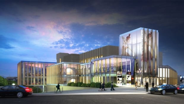 An artist rendition of the refurbished Elgin Street entrance of the National Arts Centre in Ottawa. Renovations inside and outside the building will start in December, about six months earlier than planned.