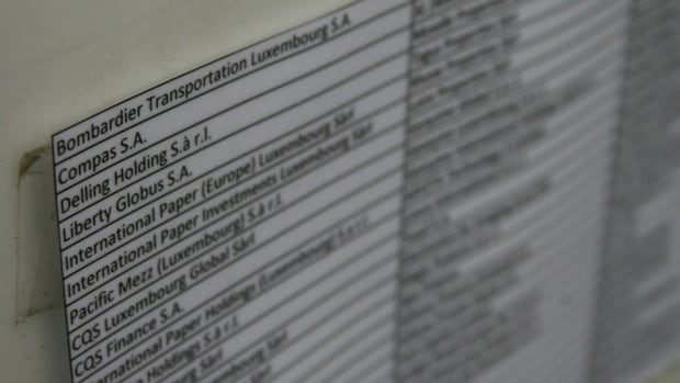 Bombardier's name is one of 87 listed at a modest address in the Luxembourg capital.