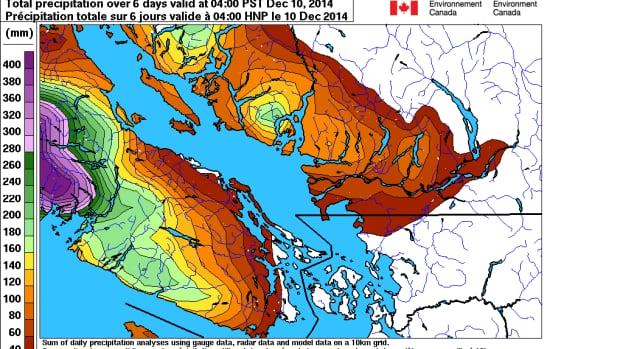 Vancouver Island Canada Precipitation