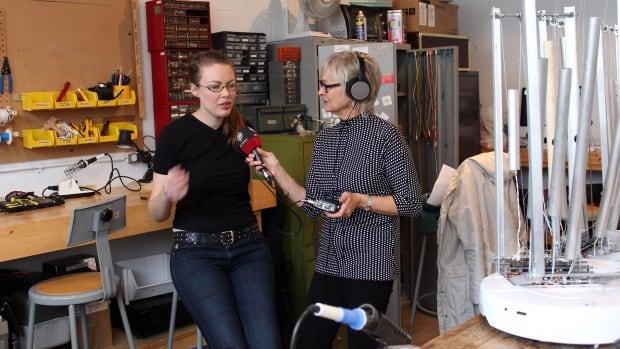 Erin Gee in her robotics lab at Eastern Bloc.