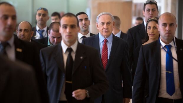 Israeli Prime Minister Benjamin Netanyahu, arrives to a faction meeting at the Knesset, Israel's parliament in Jerusalem Dec. 3. Israeli lawmakers voted to dissolve the Knesset, paving the way for early elections two years ahead of schedule.