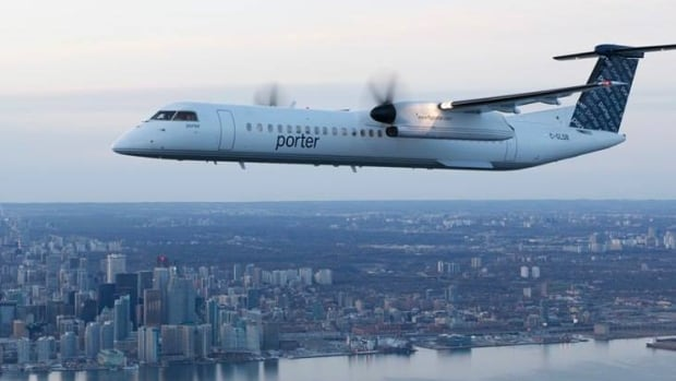 A Porter Airlines plane like this one was forced to make an emergency landing Friday night in Halifax after pilots received reports that it was low on hydraulic fluid.