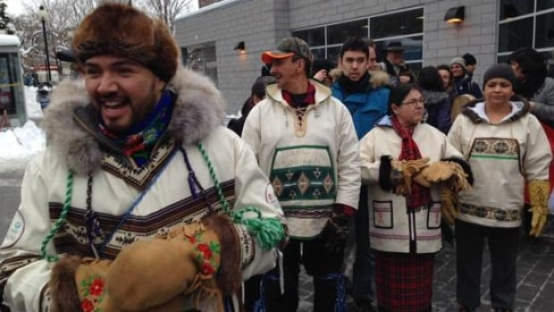 Cree marchers against uranium arrived in Montreal on Monday morning after an 850 trek.