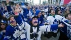 Leafs fans cheer